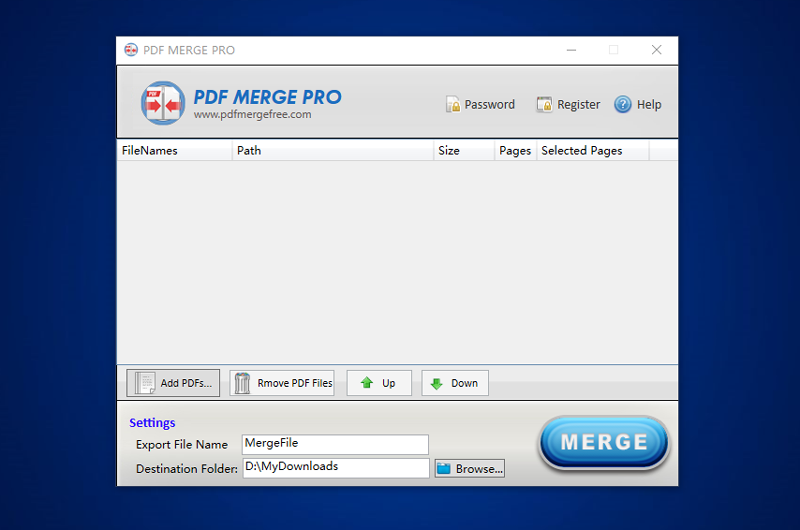 PDF Merge Pro Screen shot