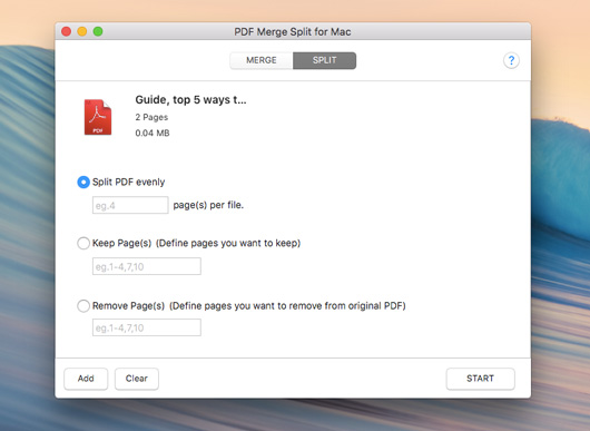 PDF Merge Split for Mac screenshot 2